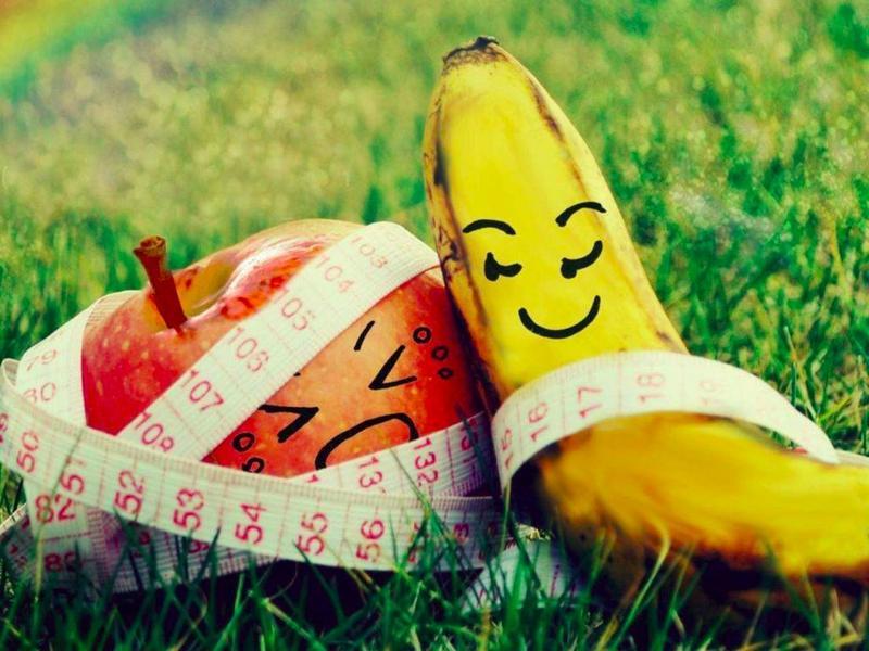 Аромат яблок и бананов помогает похудеть.